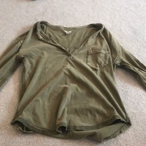 Tops - Army green 3/4 sleeve
